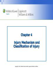 Chapter 4-Mechanisms of Injury
