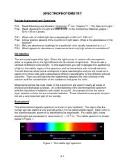 8. Spectrophotometry-Spring 2016