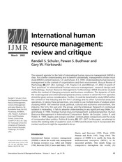 International HRM article