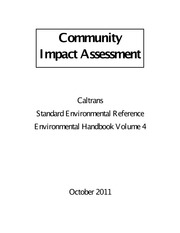 Caltrans _2011_ Community Impact Assessment, Standard Environmental Reference, Volume 4