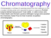 Chromatography intro