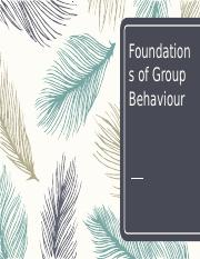 Kelompok 1-Foundations of Group Behaviour