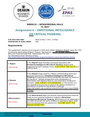 3---A4 - Module 4 OR 5 Emotional Intelligence OR Critical Thinking T1 2017.pdf