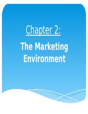 NEW Chapter 2 - The Marketing Environment