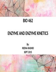 5 ENZYME AND ENZYME KINETICS