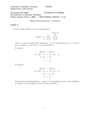 2009 - midterm - solutions