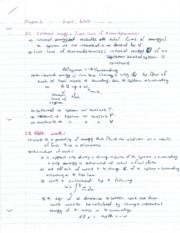 Chapter 2 Notes - Heat, Work