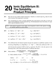 General Chemistry by Whitten, Atwood, Morrison Chapter 20 solutions