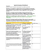 speech analysis report