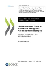 Liberalisation of Trade in Renewable Energy and Associated Technologies OECD 2006