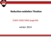 Redox Titration winter 2014 .ppt