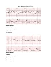 Fetal Monitoring and Categorization worksheet[327]
