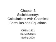 Chapter 3 - Stoichiometry Sp08