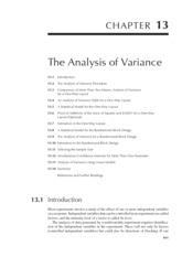 Chapter 13 The Analysis of Variance