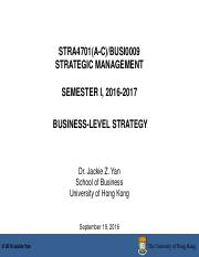 Week 4_Business-Level Strategy