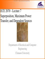 ECE 2070 Lecture 7(2) - superposition, maximum power transfer, dependent sources.pdf