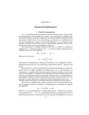 Chapter 6 Application to Financial Mathematics