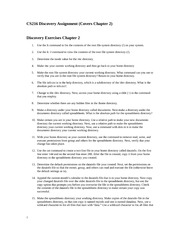 discovery exercise 2 cs216 discovery assignment covers chapter 2 rh coursehero com guide to unix using linux chapter 6 solutions guide to unix using linux chapter 10 solutions