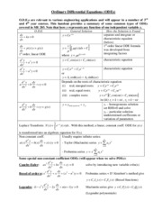 Lecture 2 Handout - ODE Review