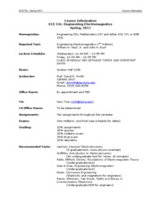 ECE53L Course Information (Spring, 2011)
