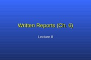 Lect 8 written reports
