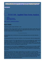 node4 Basic Models   STAT 510 - Applied Time Series Analysis