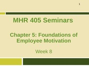 Week 8_Foundations of Employee Motivation_Student