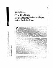Wal Mart The Challenge of Managing Relationships with Stakeholders