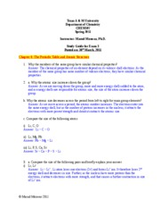 CHEM107_Exam3_Study Guide Answer