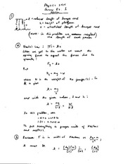 Homework A Solutions on Physics For Life Science Majors