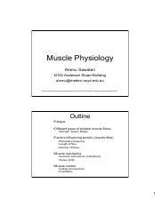 2016 Skeletal Muscle Physiology2