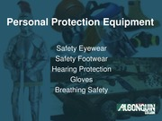 Personal Protection Equipment CSTT