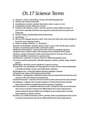 Ch 17 notes biology