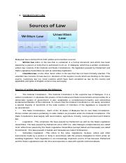 SOURCES OF LAW TEST