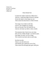 Poem - These Mortal Feet