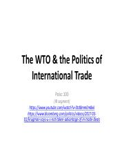WTO & Politics of International Trade-PDF-2017.pdf