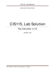 CIS115 Week Lab Solution (v1.0)