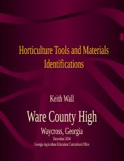 13765_Horticulture Tools and Materials Identifications---Ware Co.