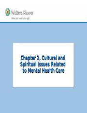 Chapter 02 Cultural and Spiritual Issues Related to Mental Health Care.ppt