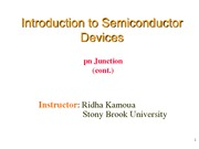 Lecture 9 - pn Junction II