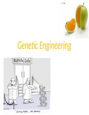 Lecture 6.3 - Genetic Engineering