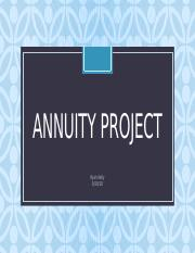 annuity project.pptx