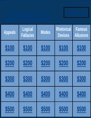 Exam Prep: Jeopardy Game