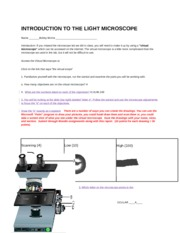 Lab 4_Introduction to the Light Microscope Worksheet