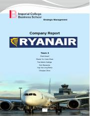 Strategic Management Report- Ryanair (IEM Team 4)
