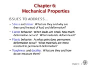 C6 Mechanical Properties