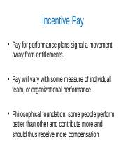 Class Presentation 7A - Incentive Pay.ppt