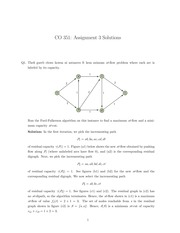 Network flow theory homework 3