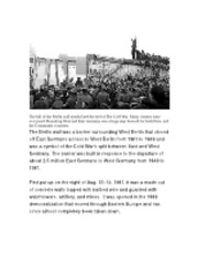 Berlin wall project