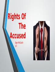 Rights of the accused.